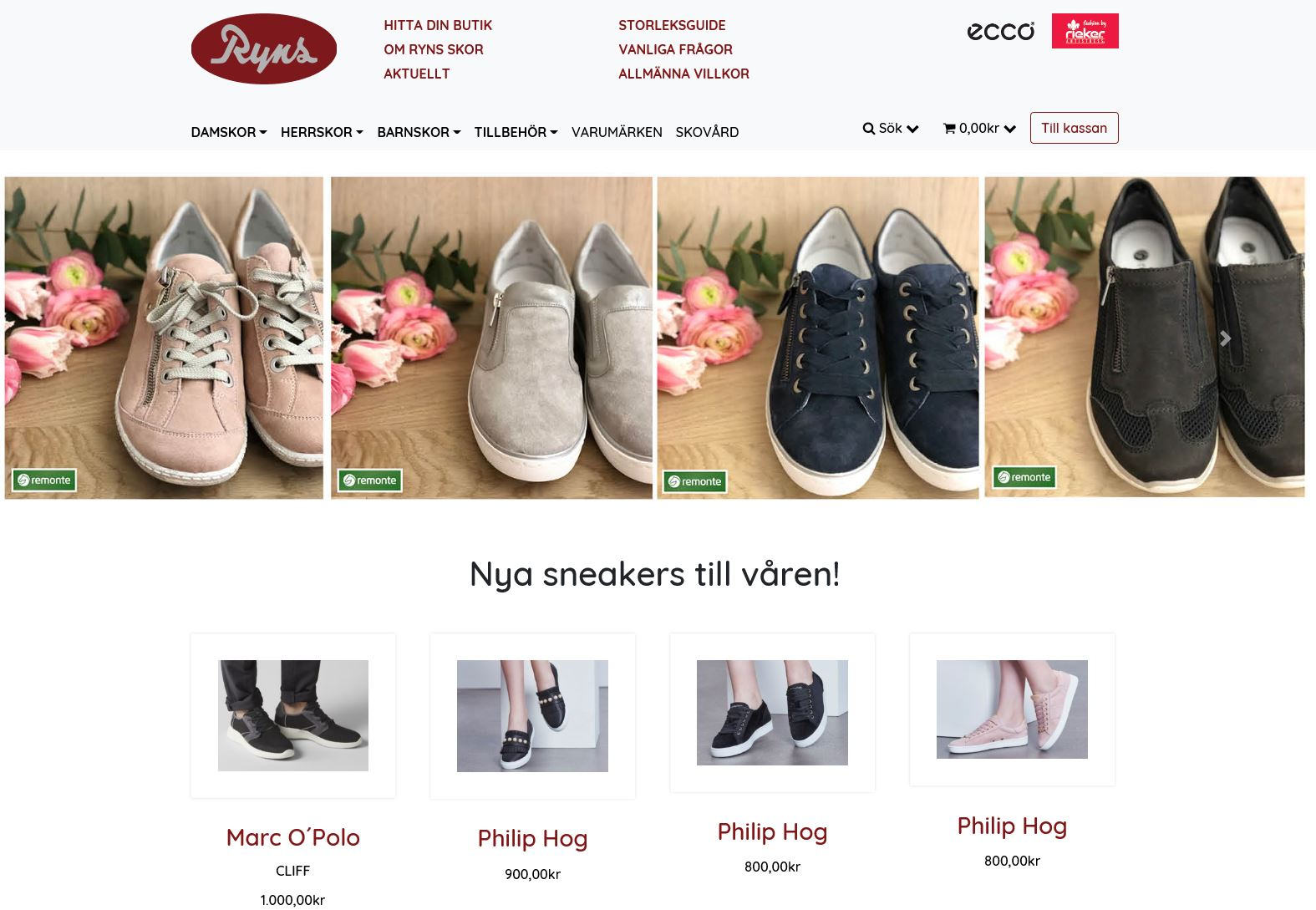 Ryns Skor öppnar PRS Webshop Polygon Communications AB